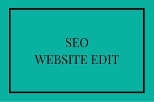 SEO website Edit