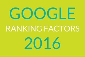 SEO RANKING FACTORS 2016