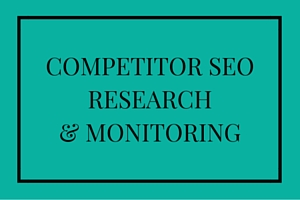 Competitor SEO research & monitoring